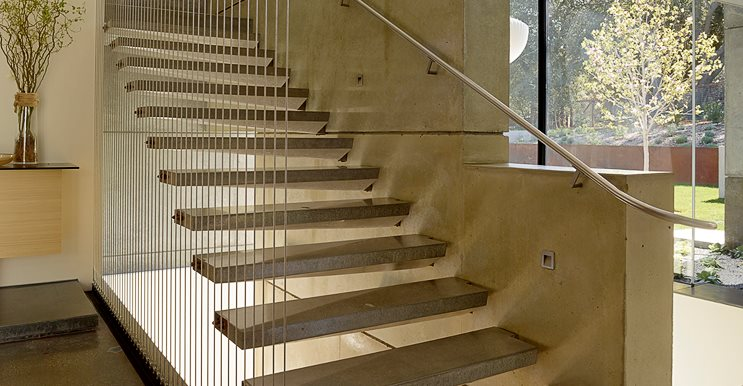 Cantilevered Concrete Stairs