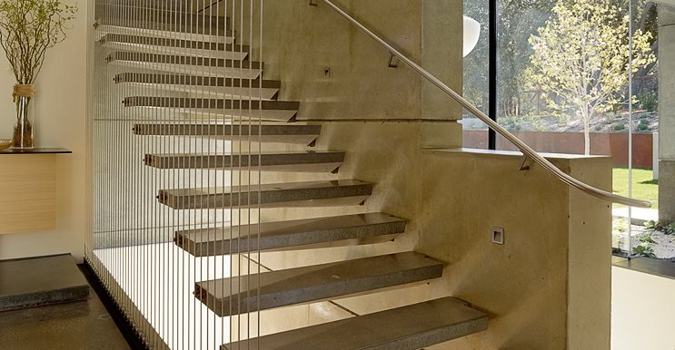 Cantilevered Stairs Site Cheng Design Berkeley, CA