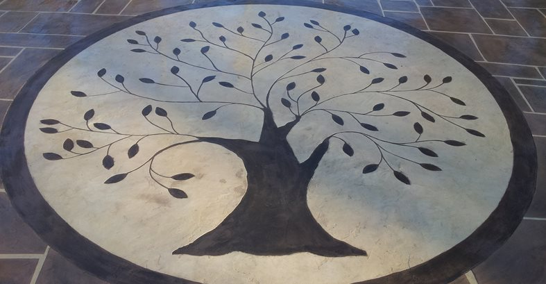 Random Stone Pattern, Engraving Site Champney Concrete Finishing Lynchburg, VA