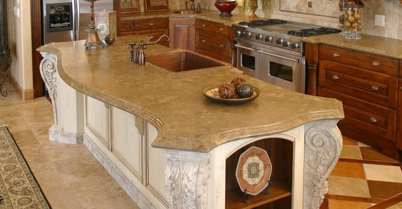 Victorian, Curved Concrete Countertops Stone Passion Salt Lake City, UT