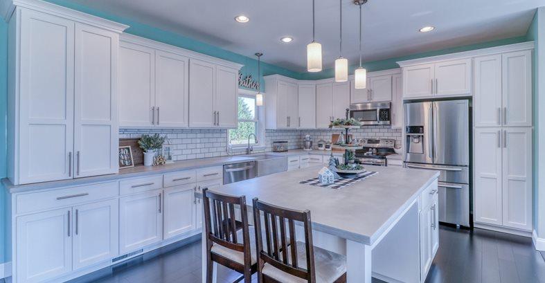 White, Kitchen Countertops Concrete Countertops Integrity Concrete LLC Hartly, DE