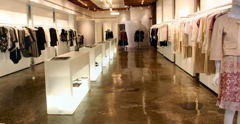 Retail Floor Concrete Floors Diversified Decorative Finishes Inc Brooklyn, NY