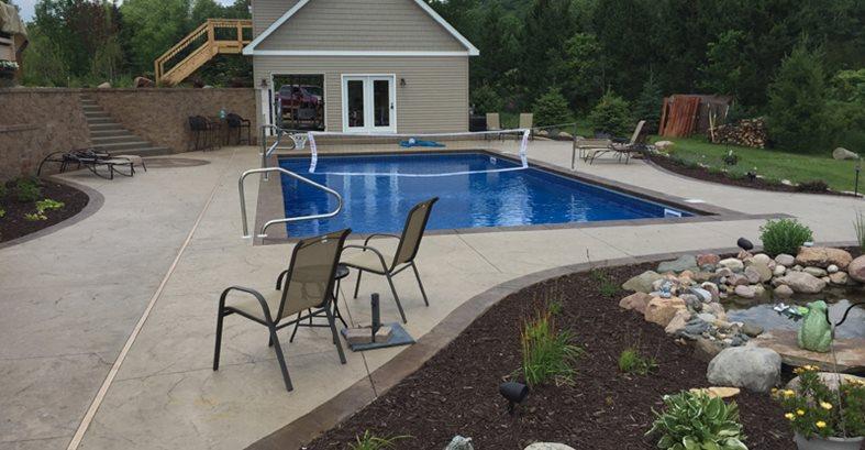 Concrete Pool Decks Concrete Pool Decks Solid Rock Custom Concrete LLC New Richmond, WI