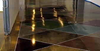 走廊,抛光混凝土抛光混凝土Demmert & Associates Glendale, CA