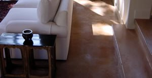 Statue, Brown Floors Concrete Floors Dana Boyer Concrete Artist LLC Apache Junction, AZ