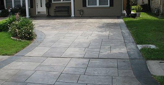 Driveway, Pattern, Stamped Concrete Driveways Custom Concrete, LLC Chalmette, LA