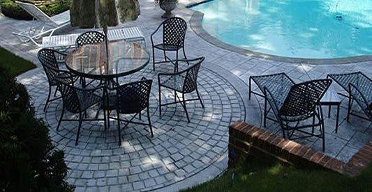 Shade, Pool Deck, Stamped Concrete Pool Decks Schneider Contracting Corporation Alexandria, VA