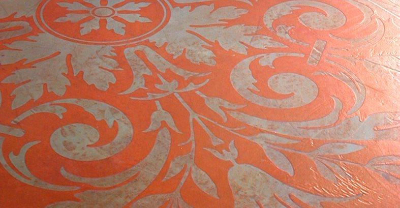 Red, Stencil Site Modello Designs Chula Vista, CA
