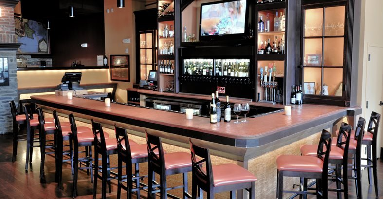Concrete countertops in restaurants and bars the Bar counter design