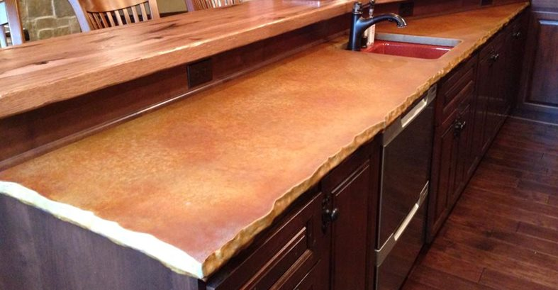 Chiseled Edge Concrete Countertops Custom Crete Werks LLC Racine, WI