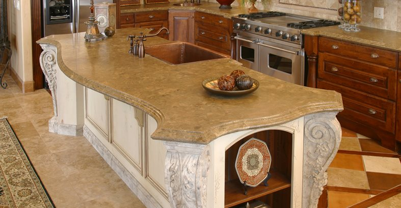 Merveilleux Victorian, Curved Concrete Countertops Stone Passion Salt Lake City, UT
