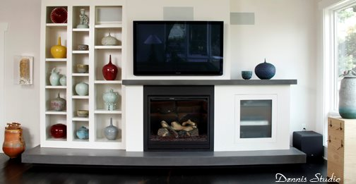 how to build a floating concrete hearth