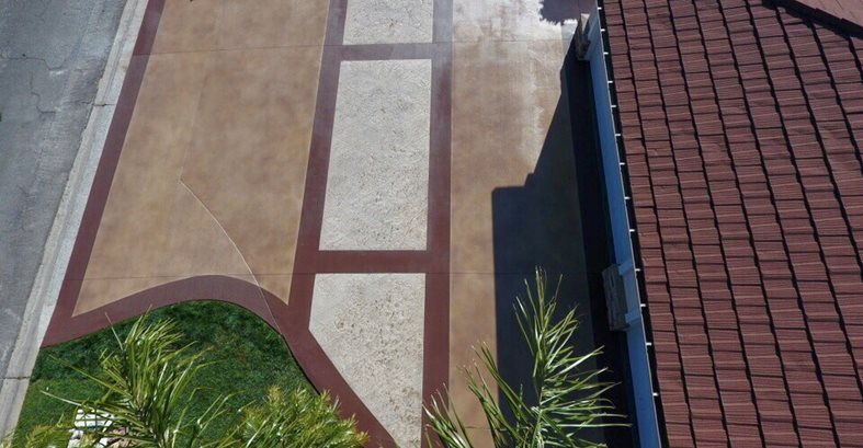 Driveway Restoration, Stained Concrete Site KB Concrete Staining Norco, CA