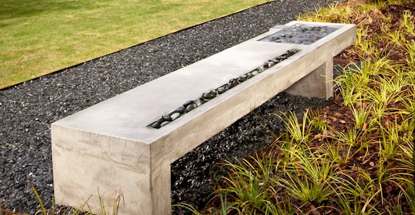 how to make a concrete bench