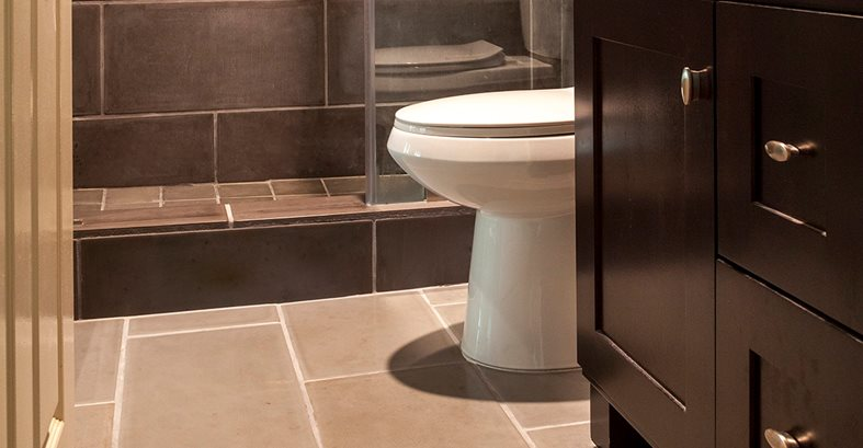 Dark Gray Concrete Bathroom Tile Site Opus Stone Tustin, CA