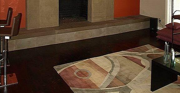 混凝土壁炉现场混凝土内饰马丁内斯,加州