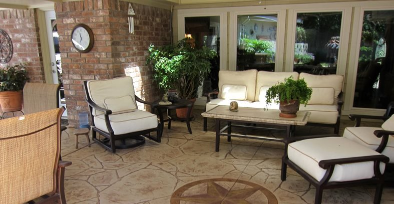 Concrete Patios Aztec Decorative Concrete Houston, TX