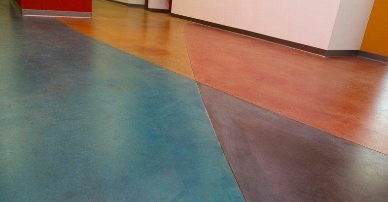Dyed Concrete Flooring : Concrete dye photos application techniques and
