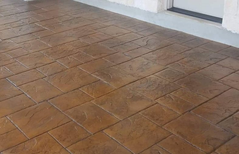 Brown Patio, Stamped Patio Stamped Concrete Viking Decorative Concepts Austin, TX