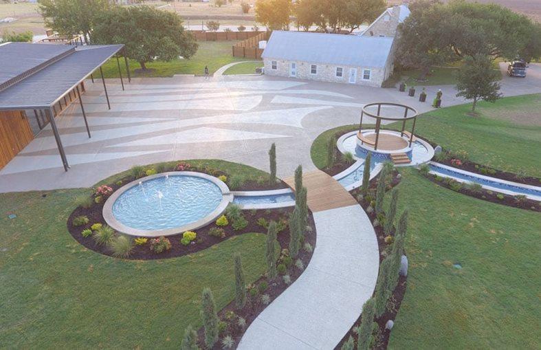 Concrete Coating, Celebrino Event Center Stamped Concrete Sundek of Austin Austin, TX