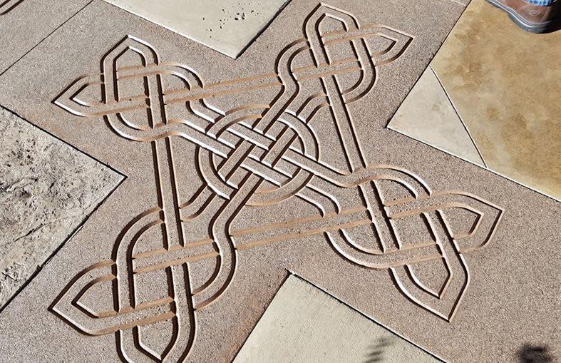 Celtic Knot, Concrete Stencil Site Solomon Colors ,