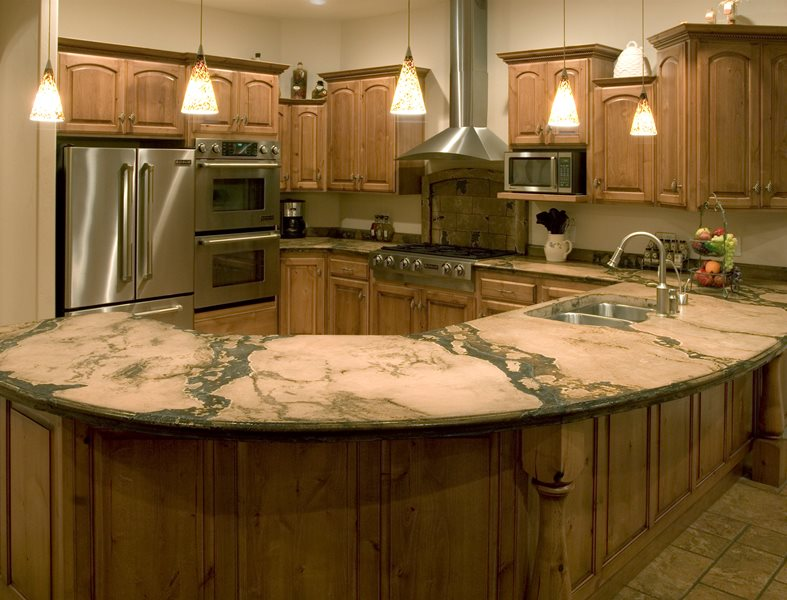 Kitchen, Counter, Peninsula Site Countertop Solutions Santee, CA