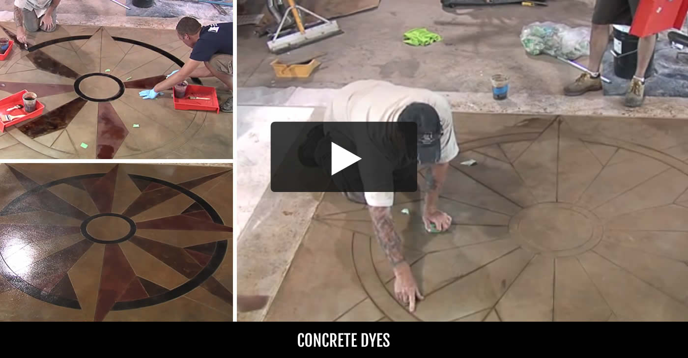 Concrete Dyes - Purchasing & Application Tips - The Concrete Network