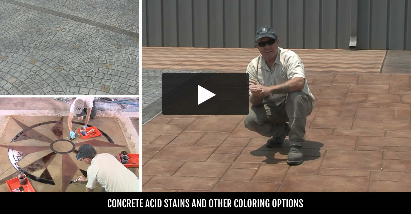 Concrete stain tips on purchasing installation the for Getting stains off concrete