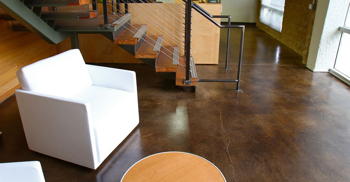 Stained Concrete Office Floors