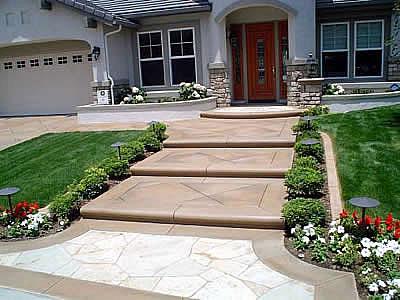 Concrete steps design options the concrete network - Concrete porch steps ideas ...